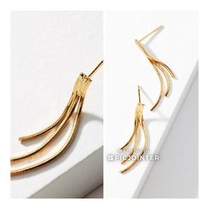 Anthropologie Mabel Drop Earrings Gold Plated
